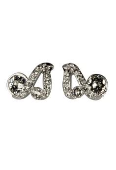 Paris Bijoux PE19789A Rhodium Plated Twist Earring - Crystal