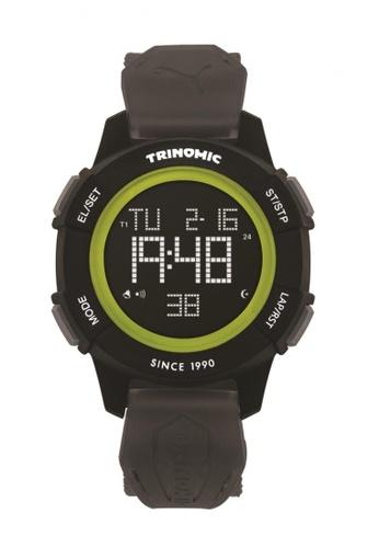 Puma black and green Puma Trinomic Black/Green Sports Function Watch PU440AC29DFMSG_1