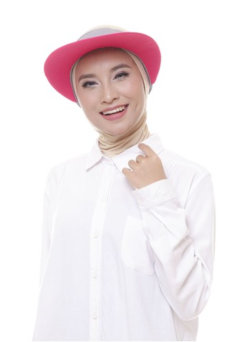 Attiqa Active multi Giant Visory (Grey & Fuschia), Woman Cap 7A041ACF586B0CGS_1