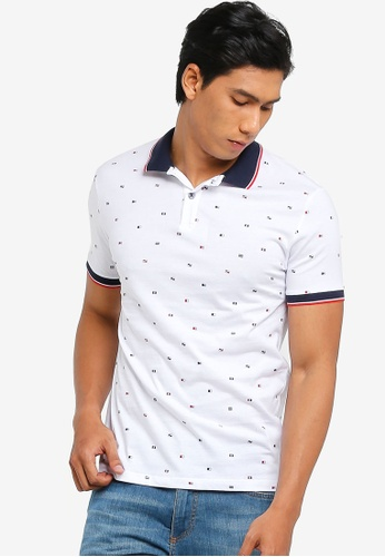82aaa056 Short Sleeve Patterned Polo Shirt