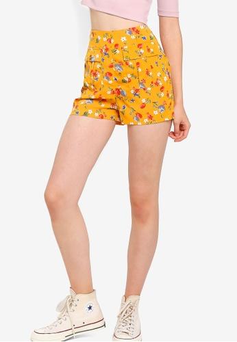 Something Borrowed 黃色 雙口袋短褲 C0E52AA8F30E5CGS_1