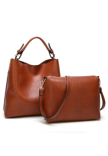 3d631fd1496c Lara brown Women Vintage Handbag Set with Crossbody Bag EFF75ACE78D1D3GS 1