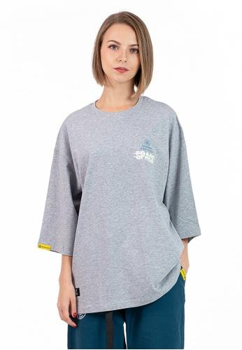 Reoparudo grey IEEO x RPD Colours Adjusting Luminous Print Oversized Tee (Grey) D749EAAD139F47GS_1