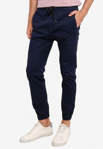 Cotton On blue Drake Cuffed Pants 4ADB7AAED1881FGS_1