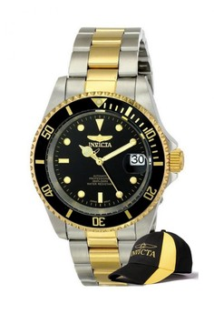 Pro Diver Men 40mm Case Watch 8927OB with FREE Baseball Cap