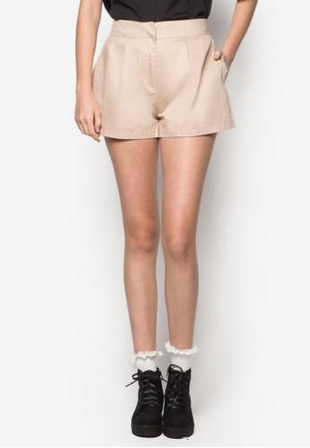 褶飾休閒短褲,zalora 心得 服飾, 短褲