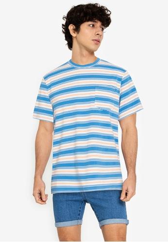 ZALORA BASICS multi Various Stripes T-Shirt CD714AA4C6ACD8GS_1