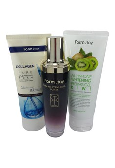 NEW Complete Cleansing Set for Stressed & Aging Skin with FREE beauty pouch