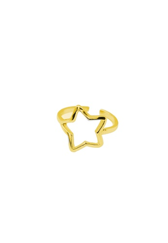 LYCKA gold LDR1330 S925 Silver Cute Stars Ring FD199AC333D585GS_1