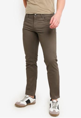 MANGO Man grey Slim-Fit 5 Pocket Cotton Trousers 0C848AAE9FBF03GS_1