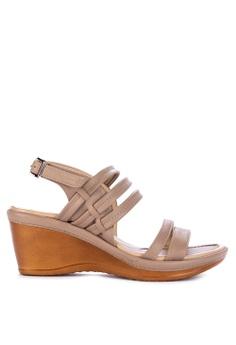 e529012c6ab5c BANDOLINO grey Stella Wedge Sandals DEC46SHA894E9BGS 1