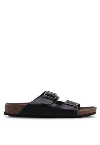 Jack & Jones 黑色 Croxton 黑色 皮革 涼鞋 8498ESHC21FAD8GS_1