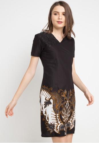Rianty Batik black and multi Dress Zemora B1DD3AA0B3A6D9GS_1