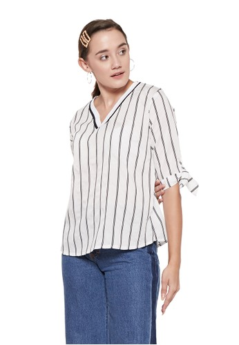 White Stuff Besar Stripe Long Sleeved Shirt NWT