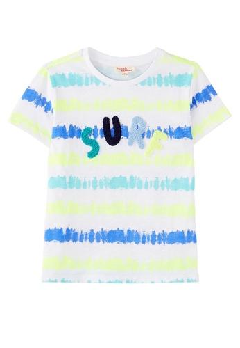 Du Pareil Au Même (DPAM) white Surf T-Shirt 2D882KA9CC87A9GS_1