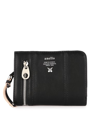 Anello black Premium Synthetic Leather Folded Wallet 548A2AC2115021GS_1