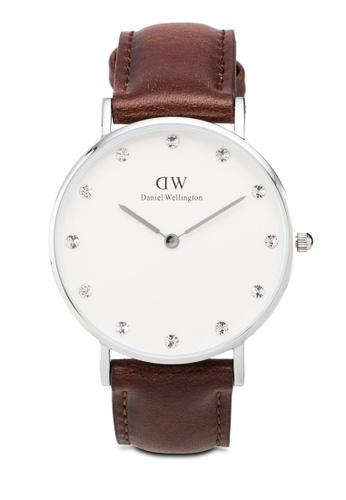 Daniel Wellington brown Classy St Mawes-Watch Silver 34mm DA376AC41QXEMY_1
