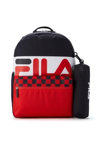 FILA navy FILA KIDS Unisex FILA Logo Colour Blocks Backpacks D6E64KC090EF77GS_1