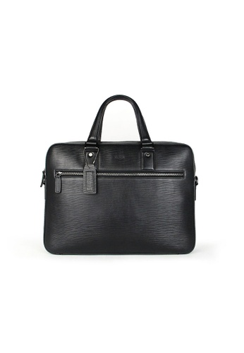 Picard black Porjus Men's Leather Briefcase 35673AC50FEDA0GS_1