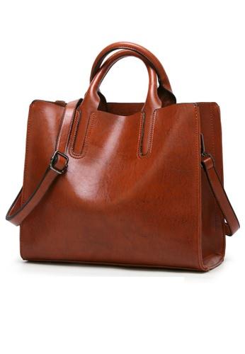 Halo brown OL Two Way Tote Bag C57B6AC7272DCFGS_1