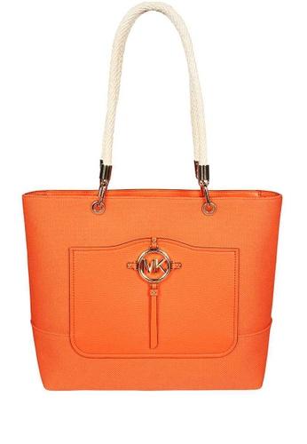 Michael Kors orange MICHAEL Michael Kors Amy Large Canvas Tote Bag 1DDD9AC2A593FDGS_1