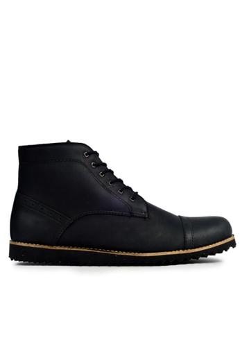 MIG black MIG Footwear Sabre Boots Black - Hitam MI684SH97COSID_1