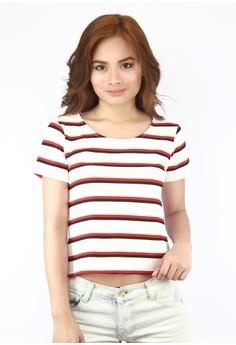 Penelope Stripes Short Sleeves Top