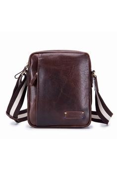 f8383134a8 ENZODESIGN brown ENZODESIGN Vintage Buffalo Men's Leather Cross Body Bag  SG11424BRN D61B1ACAB8E9E3GS_1