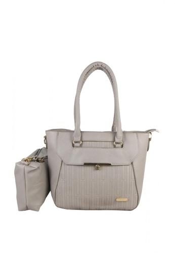 DNJ grey Isabel 2 in 1 Shoulder Bag DN487AC0KAUSPH_1