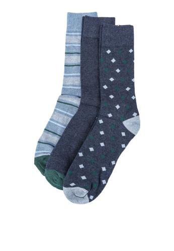 OVS blue 3-Pair Crew Socks 8EA5DAA8248F6BGS_1