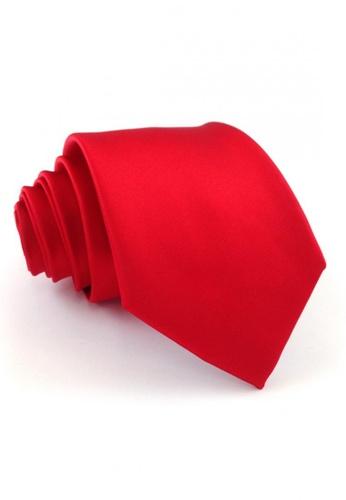 Tieline red Tieline Red Standard Microfiber Solid Necktie TI886AC09UJUPH_1