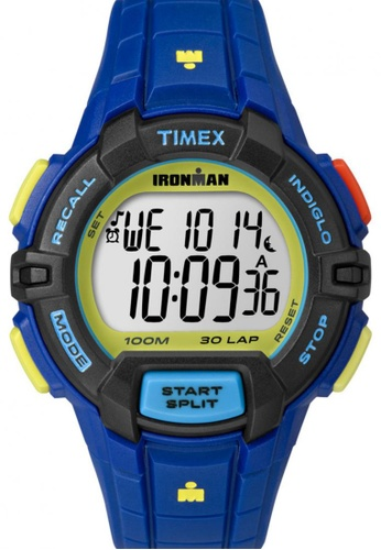 TIMEX blue Timex IRONMAN® Rugged - 30 Full-Size with Blue Case and Resin Strap TI857AC89NUCSG_1