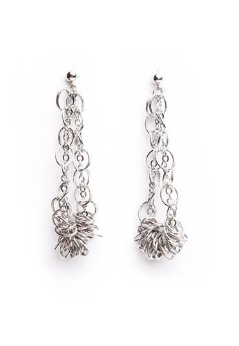 Gung Jewellery silver Zalia Twisted Dangling Earring in Silver 96128ACE0BABE8GS_1