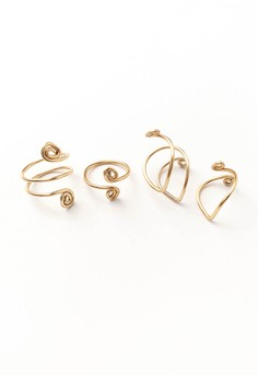 Zoe Wire Wrapped Ring Set