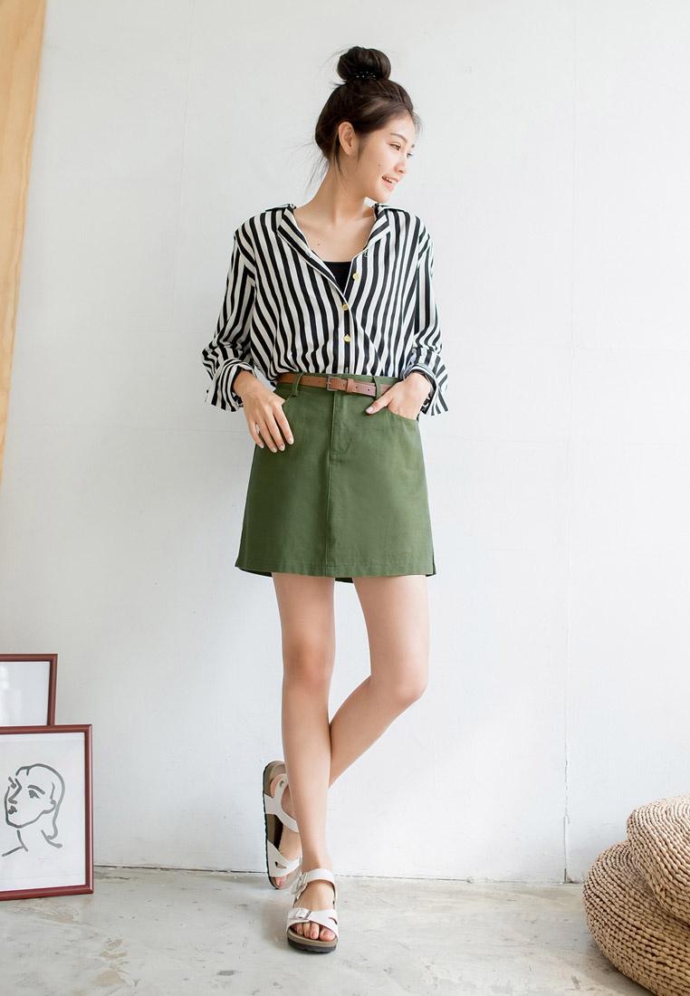 Tokichoi Army Waist High Green Skirt rZ1rwx