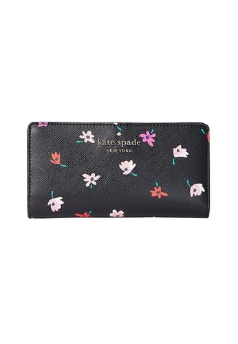 Kate Spade black and multi Kate Spade Staci Large Slim Bifold Wallet WLR00605 Black Multi 946B0AC31C1CEBGS_1