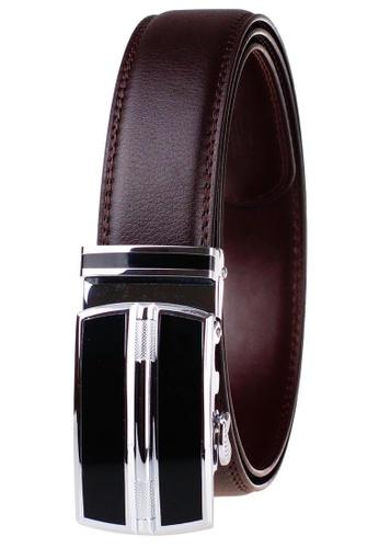 FANYU black Leather Dress Belt With Automatic Buckle belt 9D299AC2B858D3GS_1