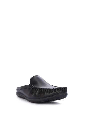 92c611bd8c9b Shop Alberto Genuine Leather Flat Half Slippers Online on ZALORA Philippines