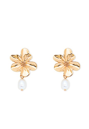 A-Excellence gold Alloy Earring 4DBEFAC556242AGS_1