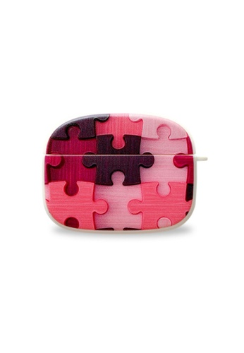 Kings Collection pink Puzzle Pattern AirPods Pro Case (KCAC2218P) C06B6AC0047BC1GS_1