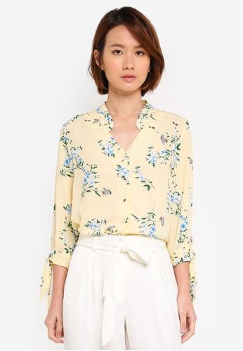 Dorothy Perkins yellow Petite Yellow Oriental Shirt 2E373AA3622475GS_1