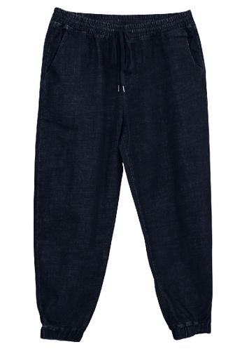 Extrema navy Extrema Men Big Size Denim Jogger Long Pants 0XL-6XL Plus Size EX837 03F4EAA6AE4783GS_1
