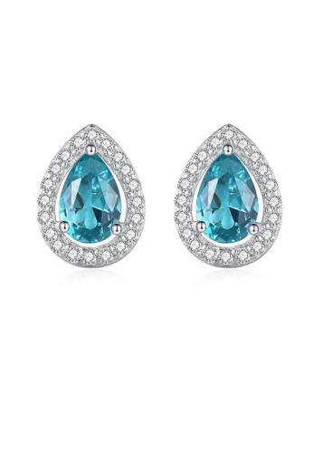 SUNRAIS silver High quality Silver S925 silver drop-shaped earrings E2013ACD190C76GS_1