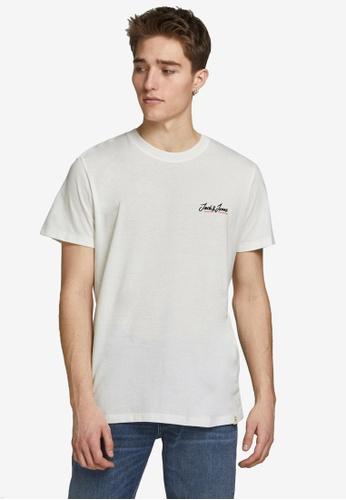 Jack & Jones white Tons Short Sleeves Crew Neck Tee 001D6AA55CF4DFGS_1