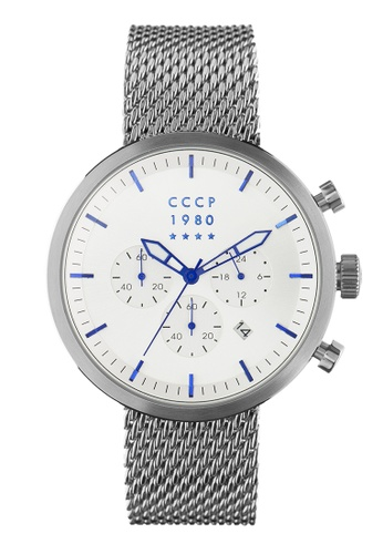 CCCP silver CCCP Men's Mesh Band Watch - CP-7007-11 78F77AC7E4A5B8GS_1