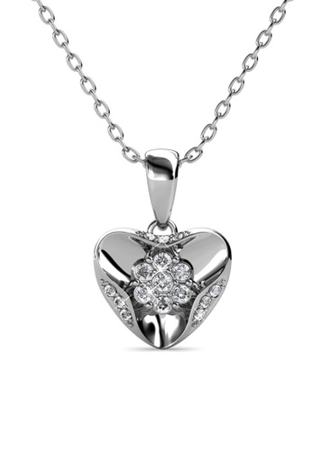 Her Jewellery silver Gusto Pendant (White Gold) - Made with premium grade crystals from Austria B21F9ACECE9748GS_1