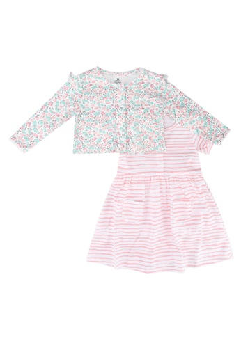 Milliot & Co. pink Alana Girls' Dress With Cardigan F0004KA2E4BD4FGS_1