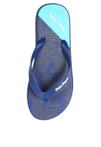 Palm Lagoon blue and navy Sandal & Flip Flop Color Block Blue 3B5B0SHF1330F0GS_1