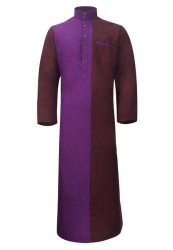 Pacolino purple Pacolino - Plain Formal Casual Long Sleeve Kid Jubah ECA02KAA4345D4GS_1