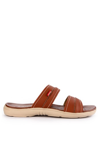 CARVIL multi and brown Carvil Sandal Casual Man Blanco-02 Terracotta 87B9ESHE6110CBGS_1